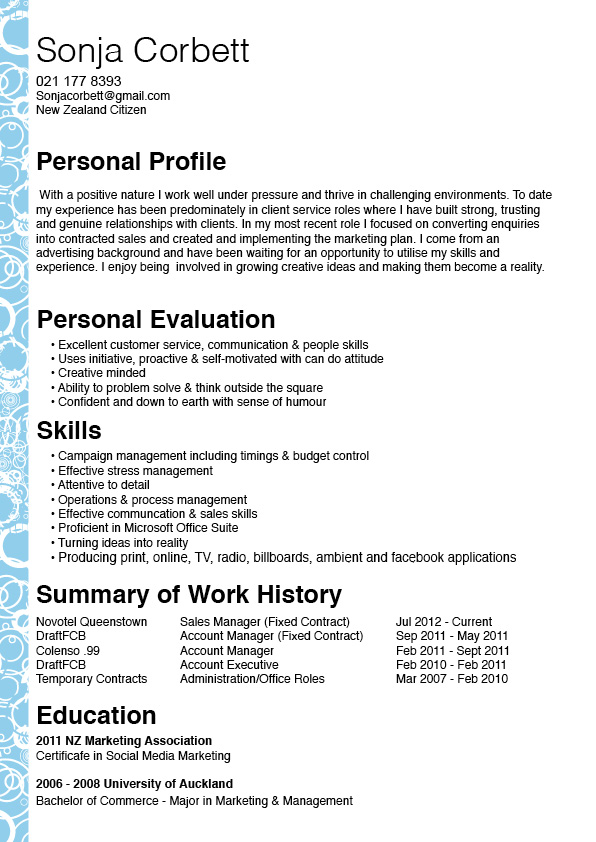 resume sonja corbett account manager - Account Manager Resume